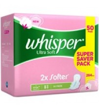 Whisper Ultra Soft Sanitary Napkin, 20N